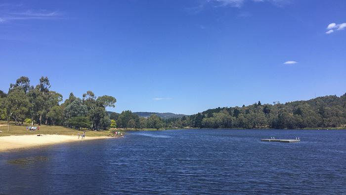 Lake Canobola Orange swimming