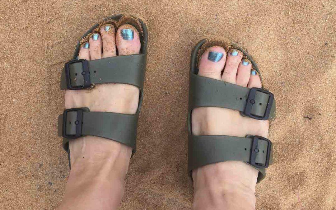 Waterproof Shoes For Swimmers: Birkentock Arizona in EVA