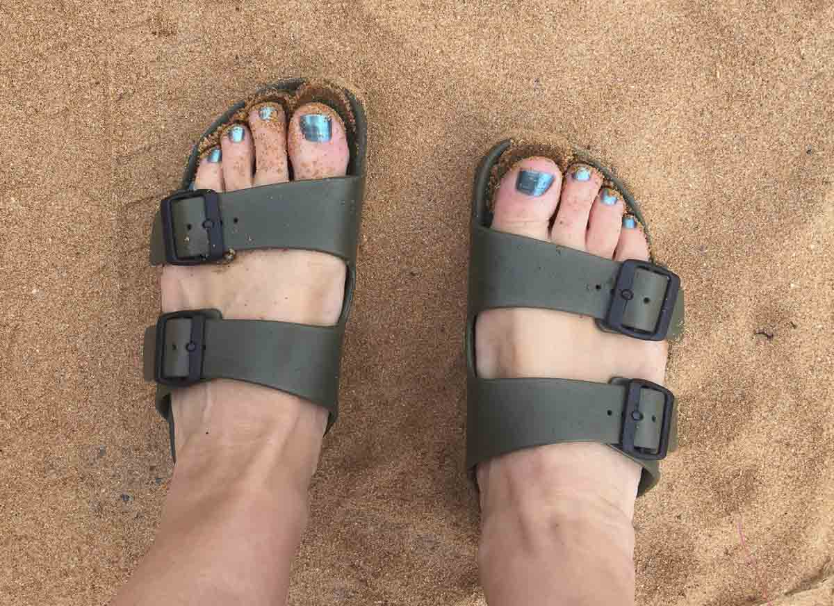 Waterproof Shoes For Swimmers: BirkenStock Arizona in EVA