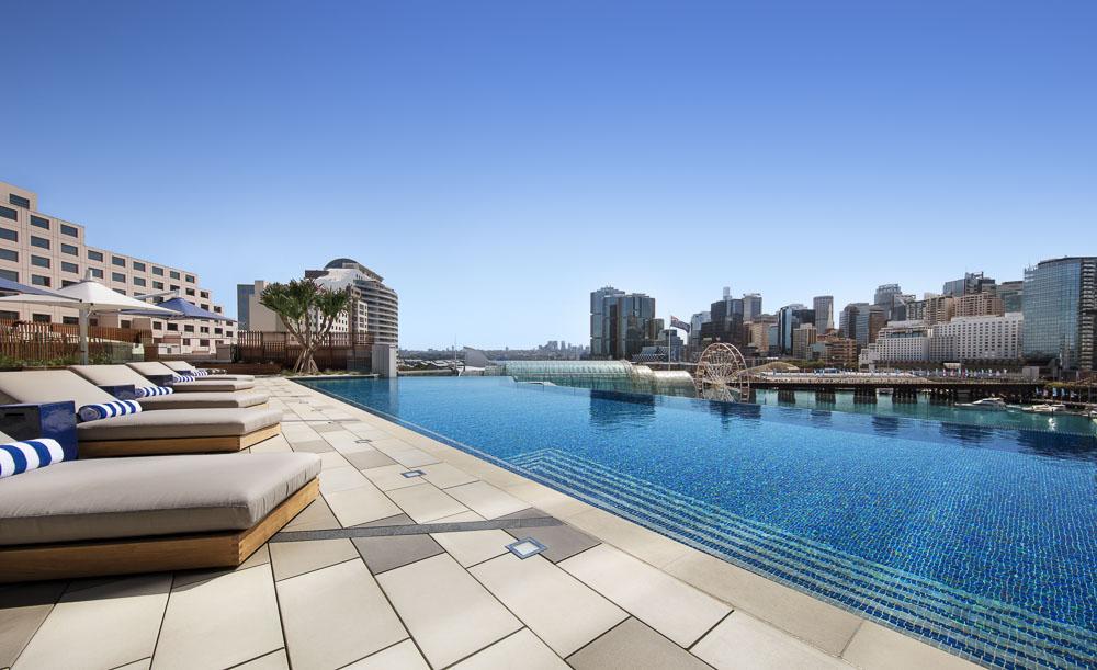 swimming pool views sofitel darling harbour