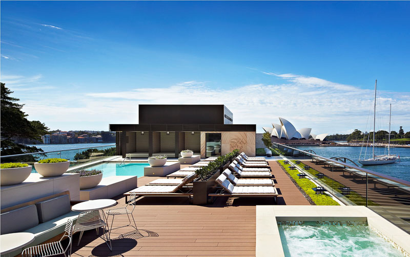 rooftop pool Park Hyatt Sydney